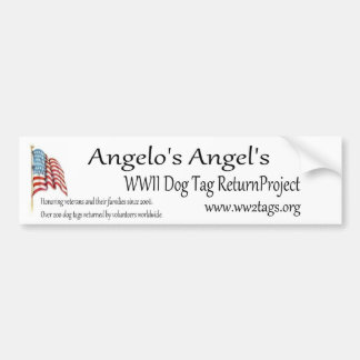 Angelo Erkennungsmarke-Rückkehr-Projekt Autoaufkleber