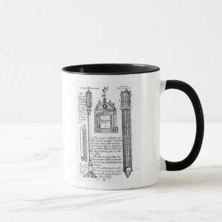Angemerkte Illustration von Pendent, diagonal Tasse