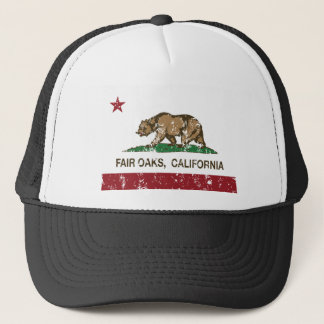 angemessene Eichen Kalifornien-Flagge beunruhigt Truckerkappe