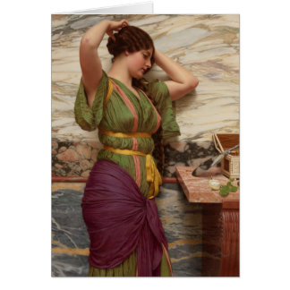 Angemessene Reflexion CC0949 Johns William Godward Karte