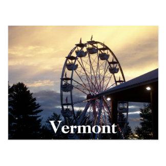 Angemessene Zeit Vermonts Postkarte