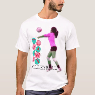 Angemessener Rasen-Volleyball T-Shirt