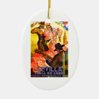 Angemessenes Plakat 1949 Spaniens Sevilla April Keramik Ornament