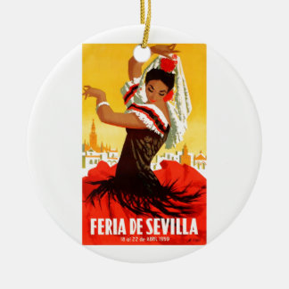 Angemessenes Plakat 1959 Spaniens Sevilla April Keramik Ornament
