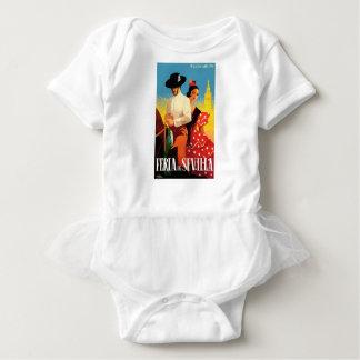 Angemessenes Plakat 1961 Spaniens Sevilla April Baby Strampler
