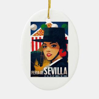 Angemessenes Plakat 1969 Spaniens Sevilla April Keramik Ornament