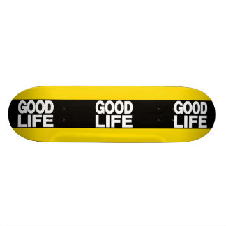 Angenehmes Leben färben lang sich gelb Skateboard Brett