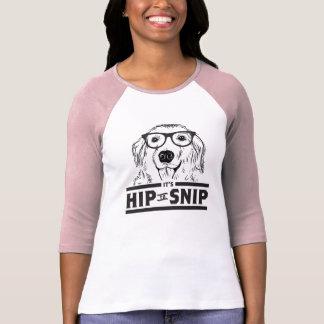 Angesagt Hündchen-Damen schnippeln 3/4 T-Shirt