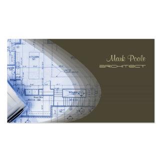 Angesagte Architektengeschäftskarten, dunkle Visitenkarten Vorlagen