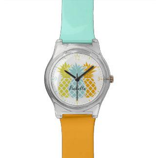 Angesagte bunte Ananas Uhr