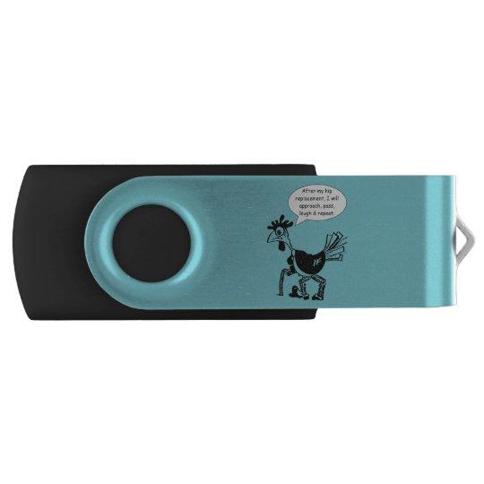 Angesagte Ersatz-Operation - Spaß-Zitat Swivel USB Stick 2.0