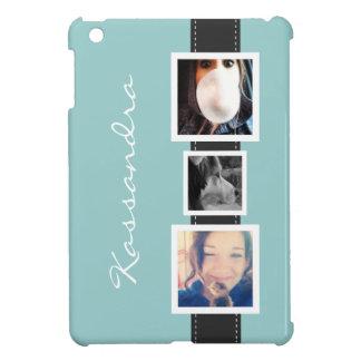 Angesagte Instagram Foto-Collage 3 Fotos und Name Hülle Für iPad Mini
