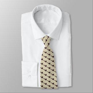 Angesagte klassische Briar-Rohre auf Beige Personalisierte Krawatten