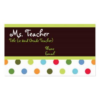 Angesagte Punkt-Lehrer-Geschäfts-Karte Visitenkarten