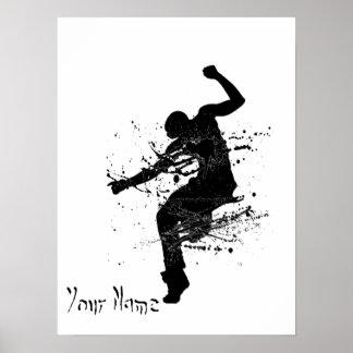 Angesagter Hopfengraffiti-Tänzer personalisiert Poster