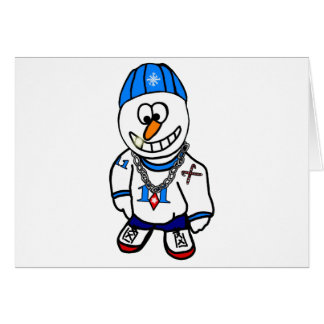 Angesagter HopfenRapper Chrsitmas Snowman Karte