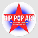 Angesagter Pop-Kunst-Aufkleber