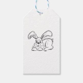 Angesagtes Hopfen, ein Häschen-Kaninchen Geschenkanhänger