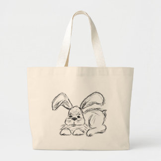 Angesagtes Hopfen, ein Häschen-Kaninchen Jumbo Stoffbeutel