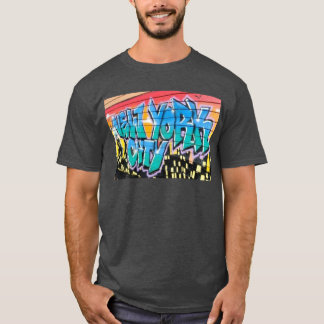 angesagtes T-Shirt New York City des ny Graffiti