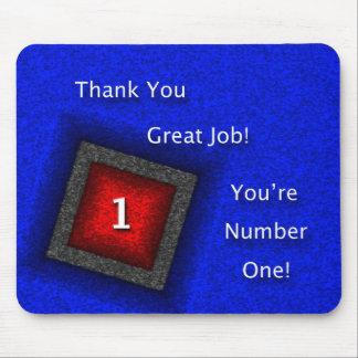 Angestellter danken Ihnen großer Job Mousepads