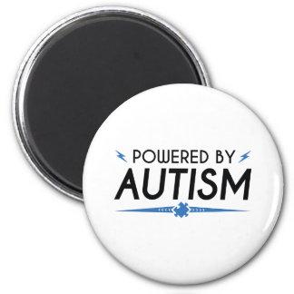 Angetrieben durch Autismus Runder Magnet 5,7 Cm