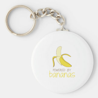 Angetrieben durch Bananen Schlüsselanhänger