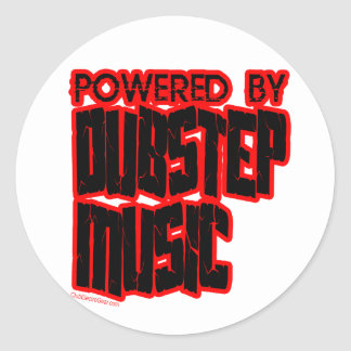 angetrieben durch DUBSTEP Musik Runder Aufkleber