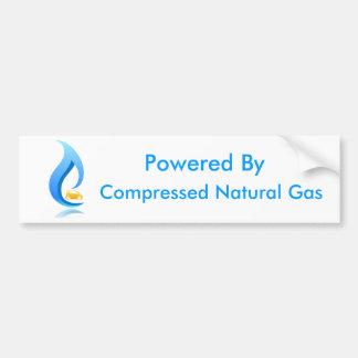 Angetrieben durch komprimiertes Erdgas Autoaufkleber