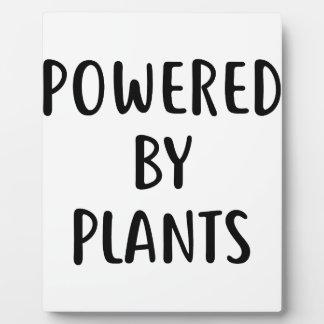 Angetrieben durch Pflanzen Fotoplatte