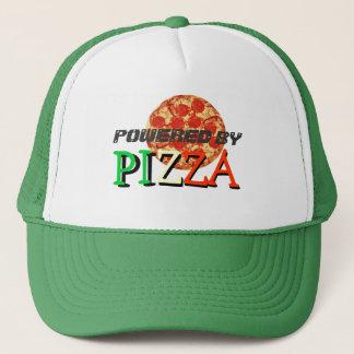 Angetrieben durch Pizza-lustiges Zitat Truckerkappe