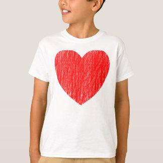 Angezeichnetes herein - Rot T-Shirt