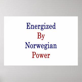 Angezogen durch norwegischen Power Poster