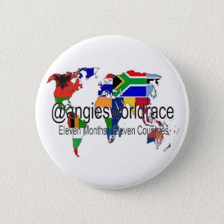 @angiesworldrace Knopf - Weiß Runder Button 5,7 Cm