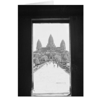 Angkor Kambodscha, Angkor Wat Eingangs-Ansicht Karte