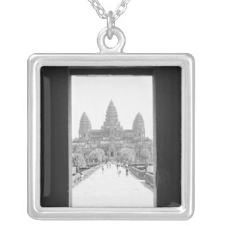 Angkor Kambodscha, Angkor Wat Eingangs-Ansicht Versilberte Kette