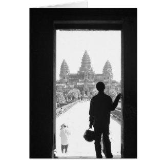 Angkor Kambodscha, Eingang u. Person Angkor Wat Karte