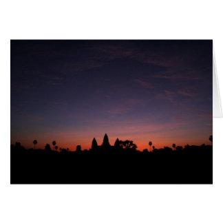 Angkor Wat am Sonnenaufgang (Karte) Karte