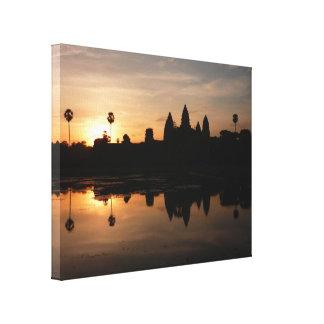 Angkor Wat goldene Leinwand Galerie Falt Leinwand