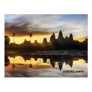 Angkor Wat Reflexion Postkarte