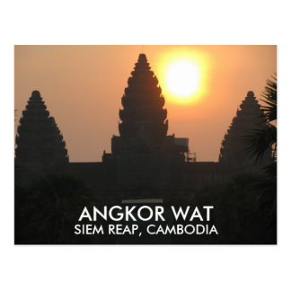 Angkor Wat Tempel-Sonnenaufgang Siem Reap Postkarte