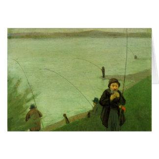Angler auf dem Rhein bis August Macke Karte