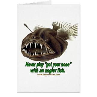 Angler-Fische Grußkarte