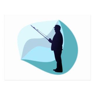 Angler fisher postkarten