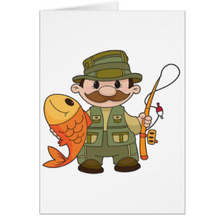 Angler-Gruß-Karten Grußkarte