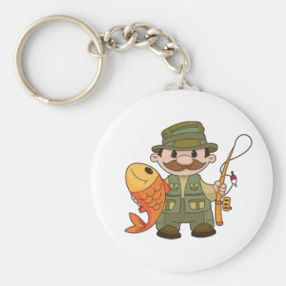 Angler Keychain Standard Runder Schlüsselanhänger