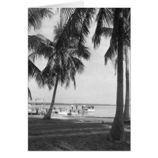 Angler Marco Island Florida 1959 Grußkarte