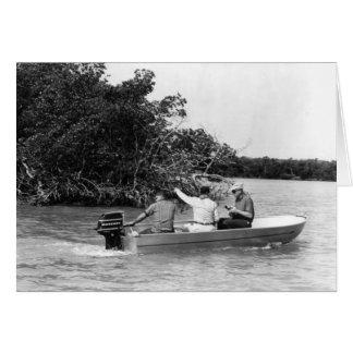 Angler, Marco Island, Florida, 1965 Grußkarte