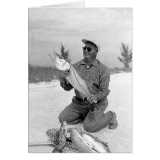 Angler mit Snook und Redfi, Marco Insel, Florida Karte