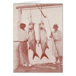 Angler mit Tarpons, Marco Insel, Florida, Dreißige Grußkarte